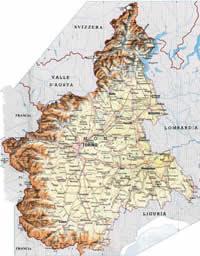 Mapa da região do Barbaresco