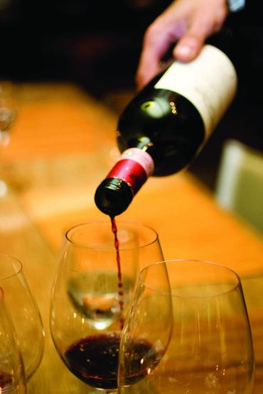 vinho servido