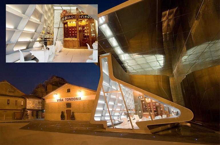 A Bodega Lopez de Heredia possui uma interessante mescla de diversos estilos de arquitetura
