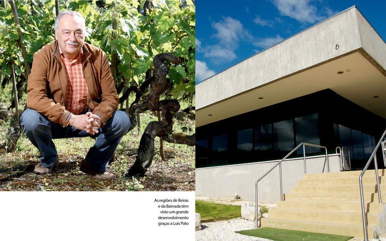 As regiões de Beiras e da Bairrada têm visto um grande desenvolvimento graças a Luis Pato