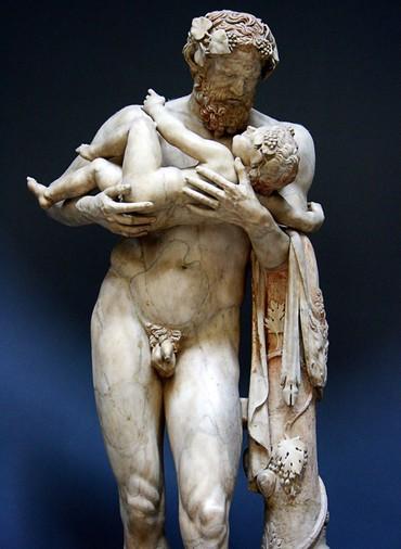 Dionísio nos braços de Sileno