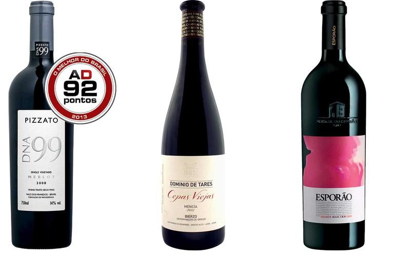 fcac84355 Tipo  Tinto Preço  R  116. A nova safra do Pizzato DNA 99 mereceu destaque  em 2013. Um Merlot extremamente harmônico. Prova do potencial da  vitivinicultura ...