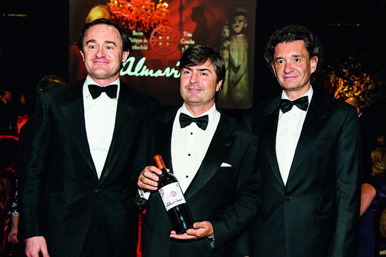 Julien de Beaumarchais, Felipe Larrain e Philippe S. de Rothschild