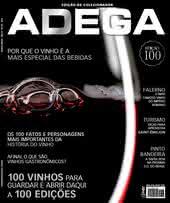 Capa Revista Revista Adega 100 - 100 vinhos para guardar e abrir daqui a 100 edições