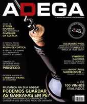 Capa Revista Revista ADEGA 105 - Mudança na sua adega! Podemos guardar as garrafas em pé?