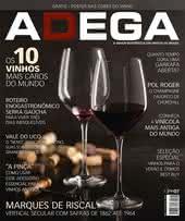 Capa Revista Revista ADEGA 123 - Os 10 vinhos mais caros do mundo