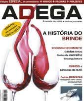 Capa Revista Revista Adega 12 - A historia do brinde