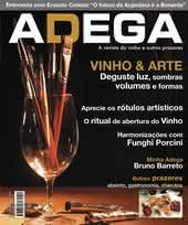 Capa Revista Revista ADEGA 21 - Vinho & Arte