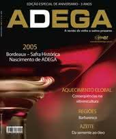 Capa Revista Revista Adega 36 - 2005 - Bordeaux, safra histórica